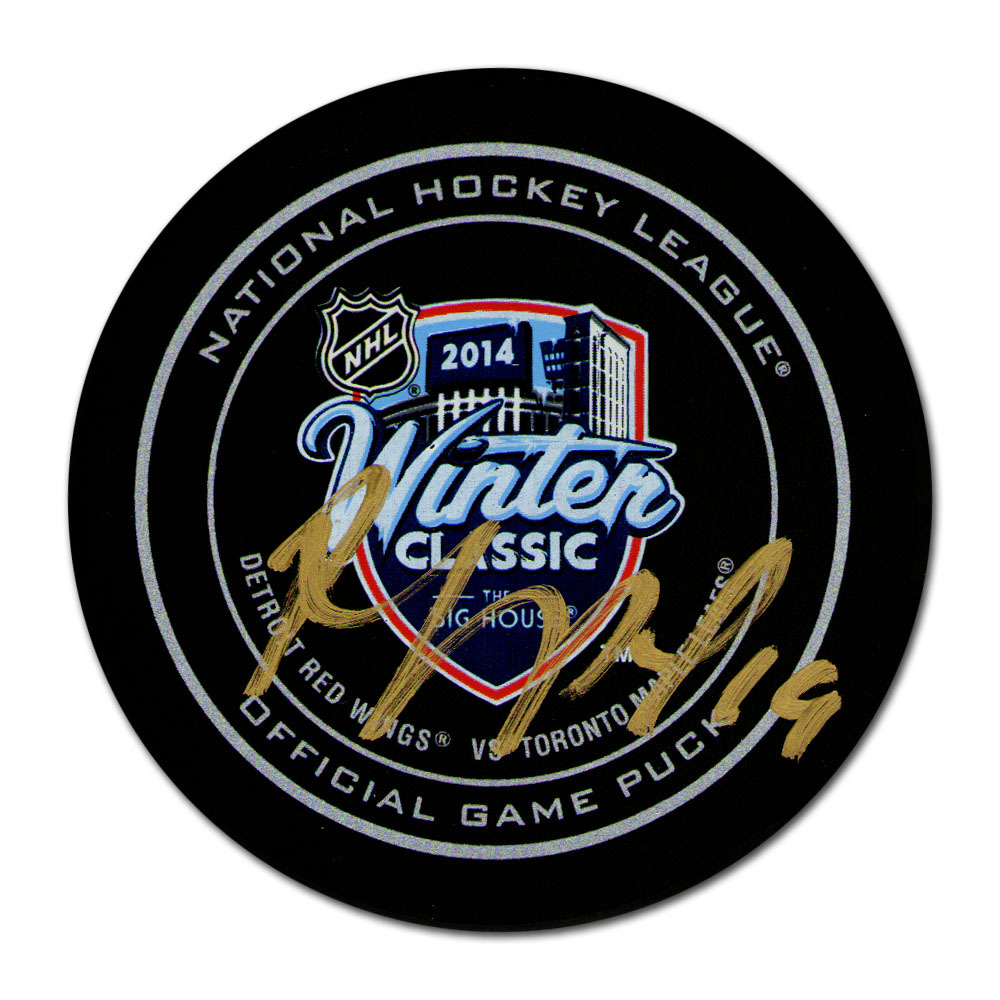 Joffrey Lupul Autographed 2014 NHL Winter Classic Official Game Puck (Toronto Maple Leafs)