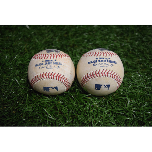 Photo of Game-Used Baseball: Masahiro Tanaka, Kevin Kiermaier and Evan Longoria