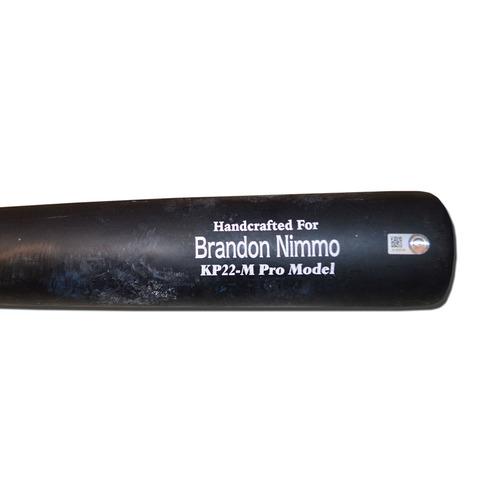 Photo of Brandon Nimmo #9 - Game Used Cracked Bat - Marucci - Black and Beige Model - Mets vs. Rockies - 8/2/17