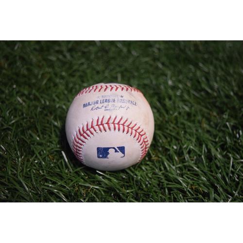 Photo of Game-Used Baseball: Jackie Bradley Jr. RBI single off Ryne Stanek - 8/8/17 v BOS