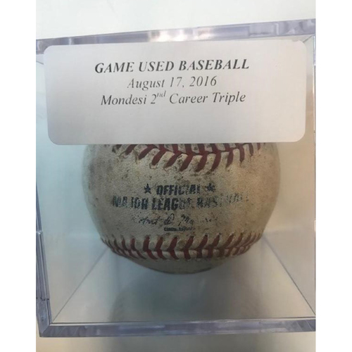 Photo of Game-Used Baseball: Raul Mondesi 2nd Career Triple