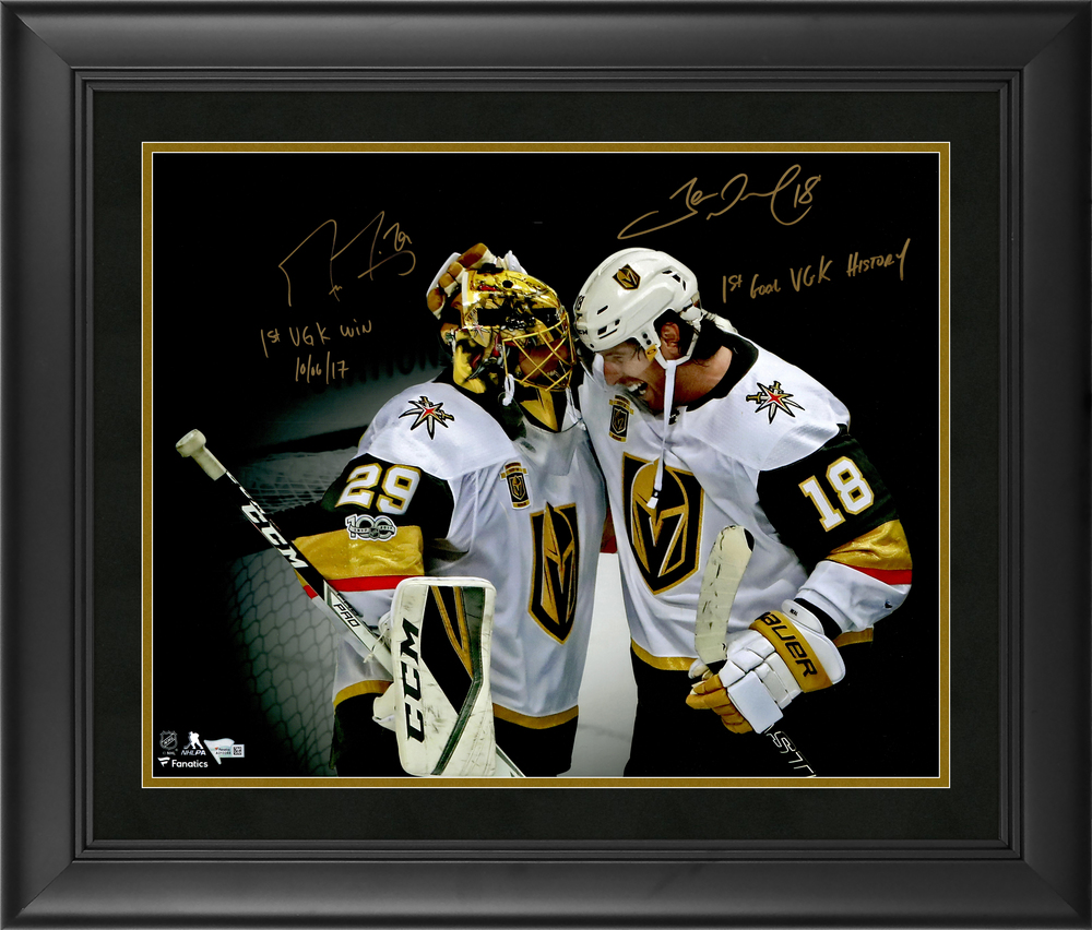 Marc-Andre Fleury and James Neal Vegas Golden Knights Framed Autographed 16