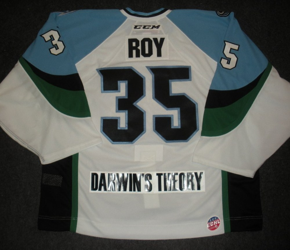 Olivier Roy - 2014 Kelly Cup Finals - Alaska Aces - White Game-Worn Jersey - Game 1