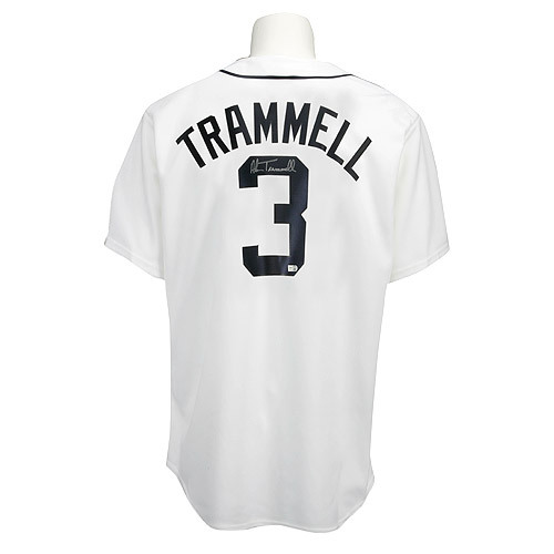 Photo of Detroit Tigers Alan Trammell Autographed Jersey