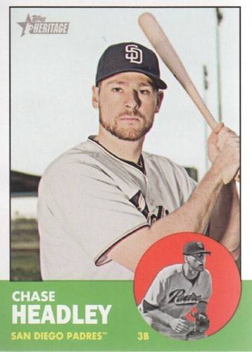 Photo of 2012 Topps Heritage #110 Chase Headley