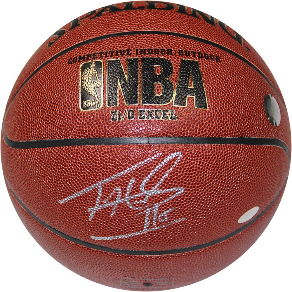 Tim Hardaway Signed NBA Zi/O Basketball (Signed in Silver)