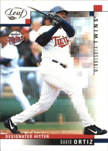 Photo of 2003 Leaf #59 David Ortiz