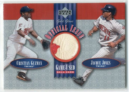 Photo of 2001 Upper Deck Gold Glove Official Issue Game Ball #OIGJ Cristian Guzman/Jacque Jones SP/194