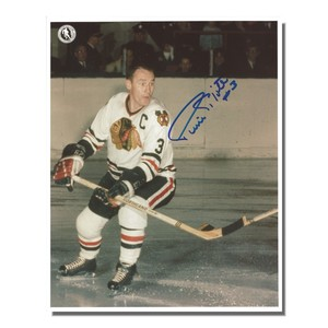 Pierre Pilote Autographed Chicago Blackhawks 8x10 Photo