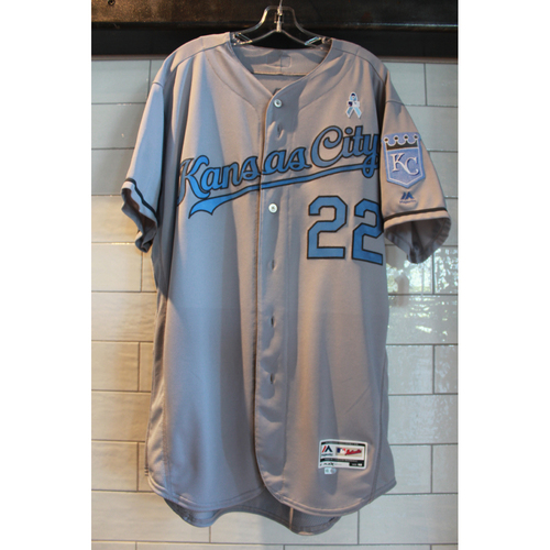 Photo of Game-Used Don Wakamatsu Father's Day jersey (6/18/17 KC at LAA) (Size 48)