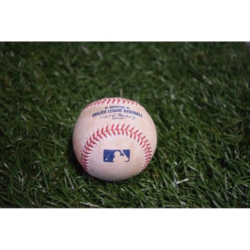 Photo of Game-Used Baseball: Xander Bogaerts single off Ryne Stanek - 8/8/17 v BOS