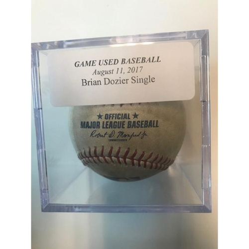 Photo of Game-Used Baseball: Brian Dozier Single