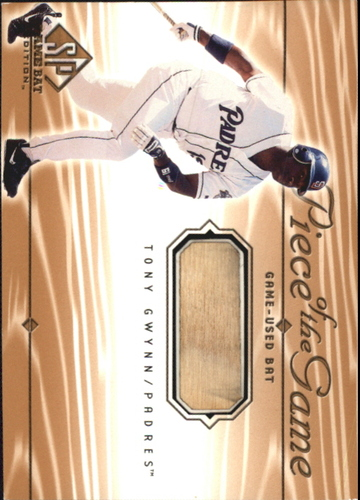 Photo of 2001 SP Game Bat Edition Piece of the Game #TGW Tony Gwynn