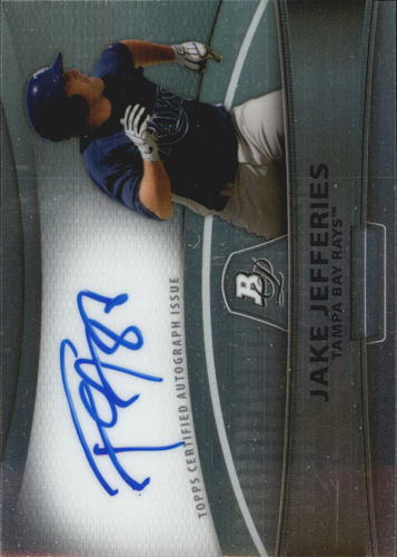 Photo of 2010 Bowman Platinum Prospect Autographs Refractors #JJ Jake Jefferies