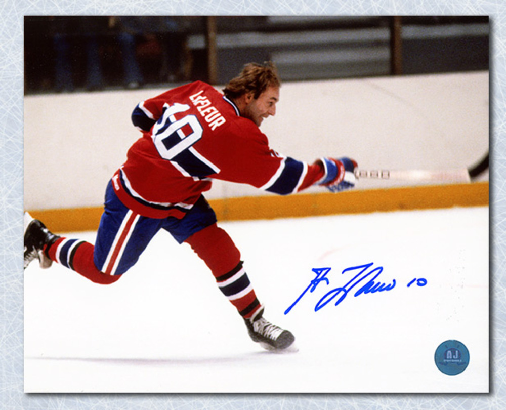 Guy LaFleur Montreal Canadiens Autographed Slapshot 8x10 Photo