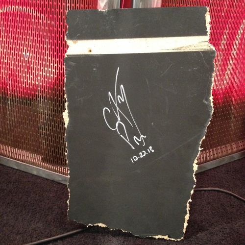 Piece of broken table used at Hell In A Cell and SIGNED by CM Punk