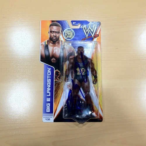 SIGNED Big E Superstar #08 Action Figure