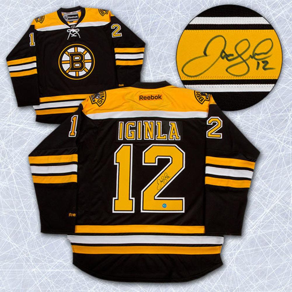 JAROME IGINLA Autographed Boston Bruins Reebok Premier Jersey