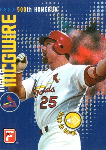 Photo of 1998-00 Protalk Talking Cards #1 Mark McGwire/500th career homer
