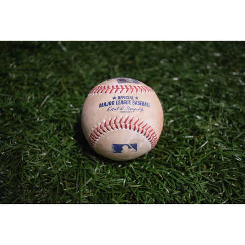 Photo of Game-Used Baseball: Daniel Robertson double off of Masahiro Tanaka