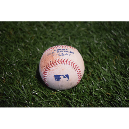 Photo of Game-Used Baseball: Eduardo Nunez double off Austin Pruitt - 8/8/17 v BOS