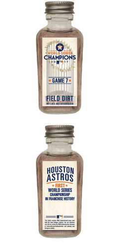 2017 World Series Game 7 Game-Used Dirt Jar (Astros First World Series Championship in Franchise History)