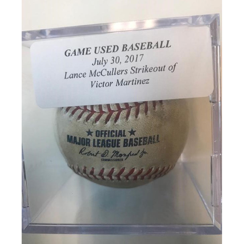 Photo of Game-Used Baseball: Lance McCullers Strikeout of Victor Martinez