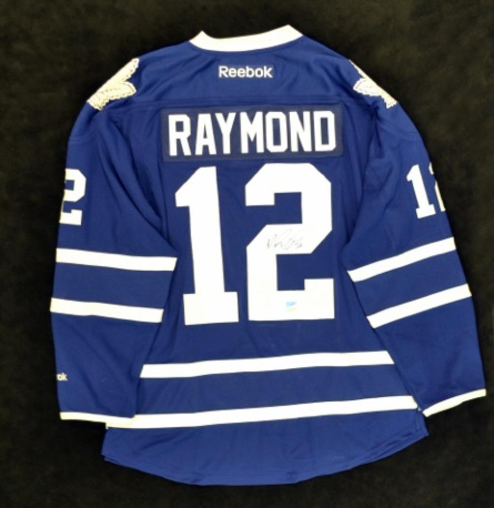 Mason Raymond Signed TML Blue Replica Jersey