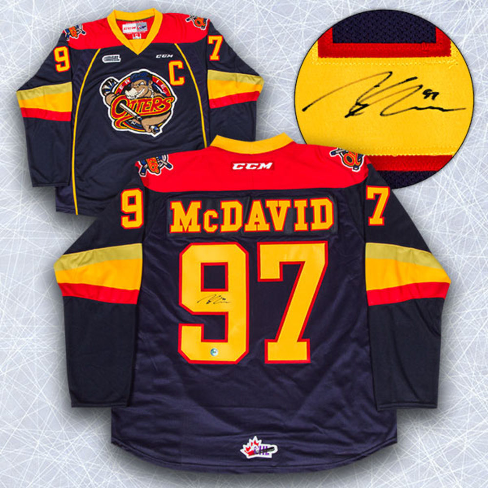 Connor McDavid Erie Otters Autographed CCM OHL Jersey
