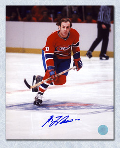 Guy LaFleur Montreal Canadiens Autographed Skating at MSG 8x10 Photo
