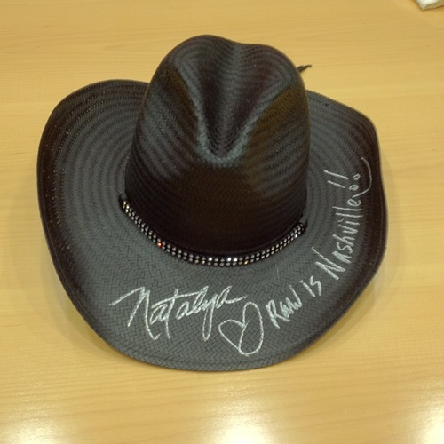 WORN & SIGNED Natalya Cowboy Hat (RAW Country - 11/18/13)