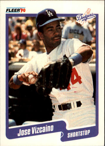 Photo of 1990 Fleer #410 Jose Vizcaino RC