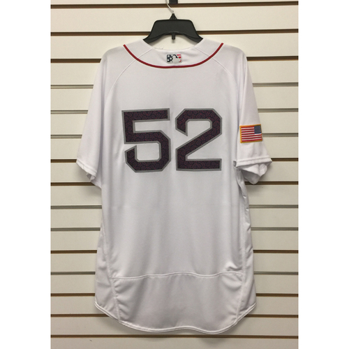 Photo of Eduardo Rodriguez Team-Issued 2016 4th o July Home Jersey