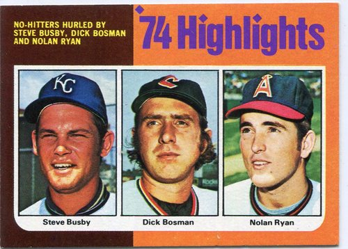 Photo of 1975 Topps #7 Ryan/Busby/Bosman No-Hitters