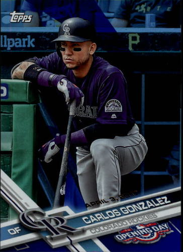 Photo of 2017 Topps Opening Day Blue Foil #115 Carlos Gonzalez