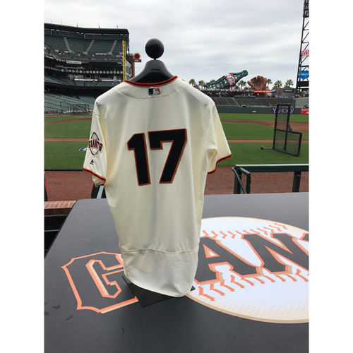 Photo of San Francisco Giants - Home Opening Day Jersey - Game Used - Jose Alguacil #17
