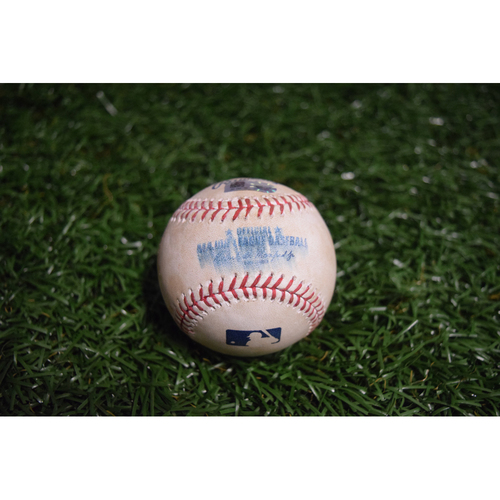 Photo of Game-Used Baseball: Rickie Weeks Jr. 2-RBI double off Chasen Shreve