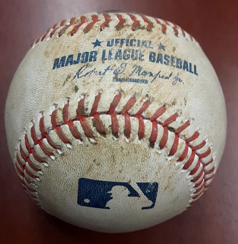 Photo of Authenticated Game Used Baseball - Joey Votto walk vs. Mike Bolsinger (May 31, 2017).