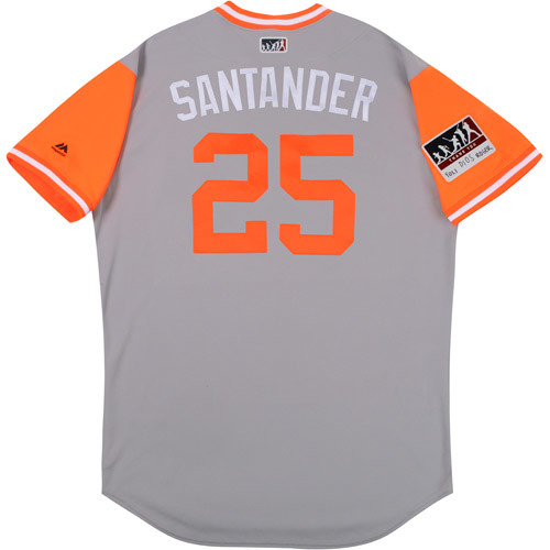 "Photo of Anthony ""Santander"" Santander Baltimore Orioles Game-Used Players Weekend Jersey"