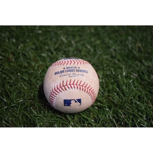 Photo of Game-Used Baseball: Jose Alvarado strikes out Jose Ramirez - 8/11/17 v CLE
