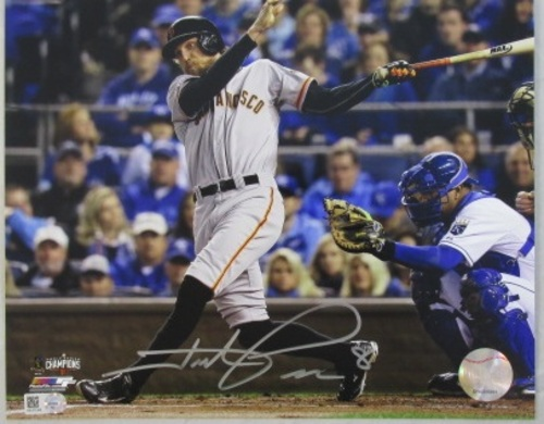 Photo of Hunter Pence Autographed Batting 8x10