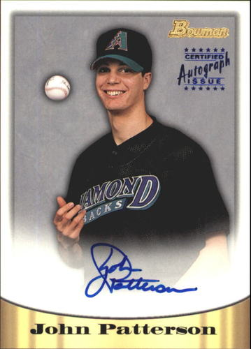 Photo of 1998 Bowman Certified Blue Autographs #66 John Patterson