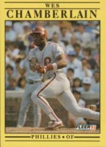 Photo of 1991 Fleer #391 Wes Chamberlain RC