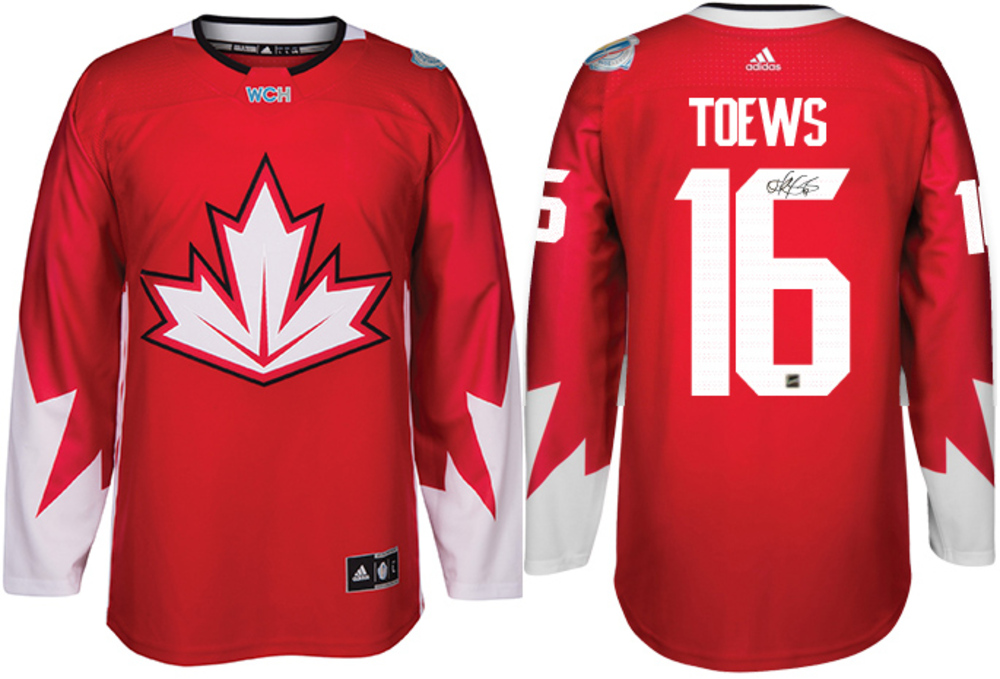 Jonathan Toews - Signed Adidas Team Canada 2016 World Cup Jersey