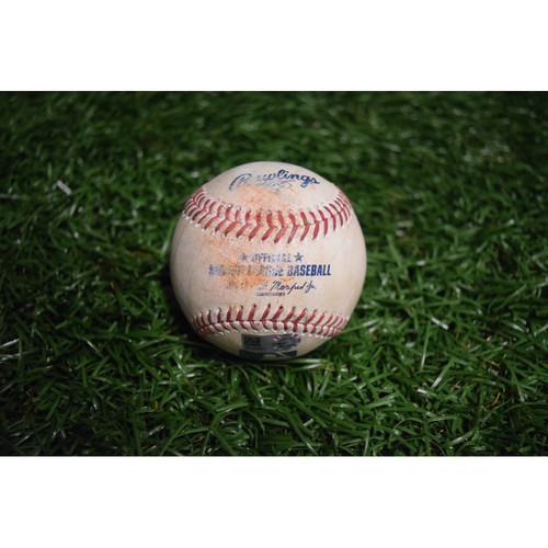 Photo of Game-Used Baseball: Jacoby Ellsbury doubles off Chris Archer