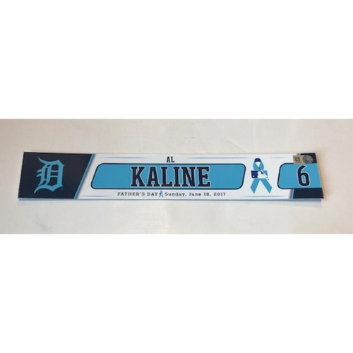 Photo of Team-Issued Father's Day Locker Name Plate: Al Kaline