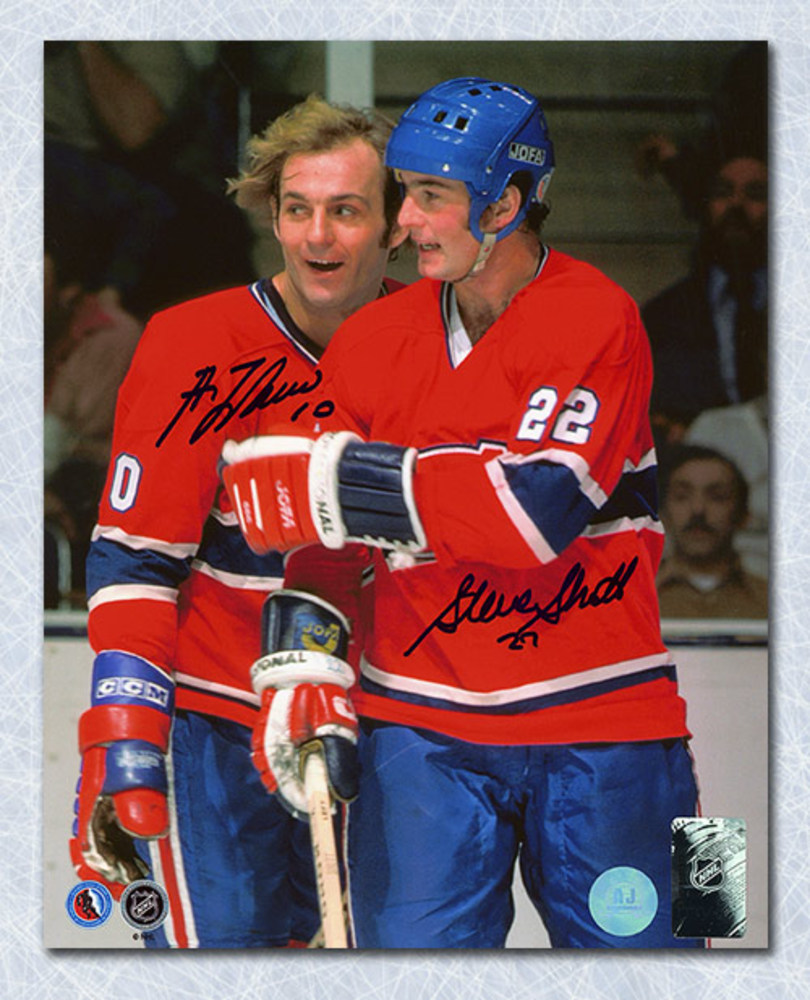 Guy LaFleur & Steve Shutt Montreal Canadiens Dual Signed Legends 16x20 Photo