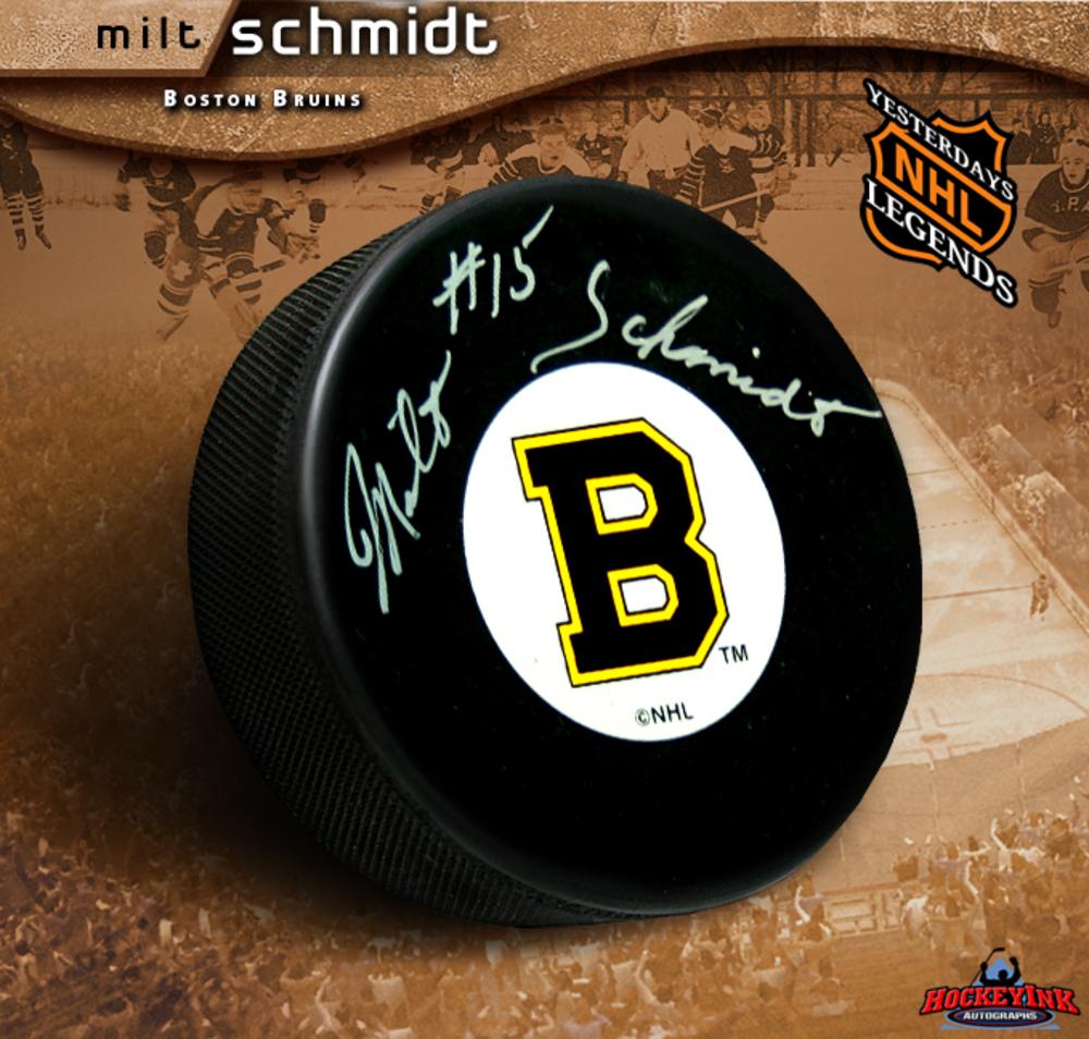 MILT SCHMIDT Signed Boston Bruins Hockey Puck