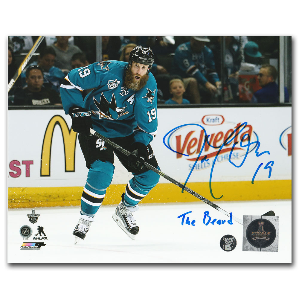 Joe Thornton Autographed San Jose Sharks 8X10 Photo w/THE BEARD Inscription