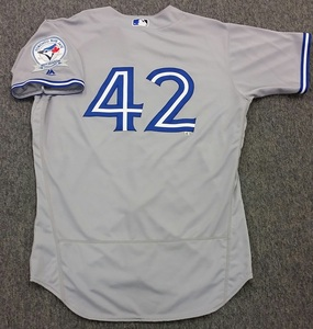 Authenticated Game Used 2016 Jackie Robinson Day Jersey - Brook Jacoby